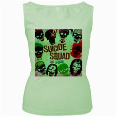Panic! At The Disco Suicide Squad The Album Women s Green Tank Top by Onesevenart