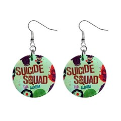 Panic! At The Disco Suicide Squad The Album Mini Button Earrings by Onesevenart