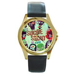 Panic! At The Disco Suicide Squad The Album Round Gold Metal Watch by Onesevenart