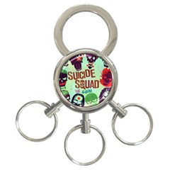 Panic! At The Disco Suicide Squad The Album 3 Ring Key Chains by Onesevenart