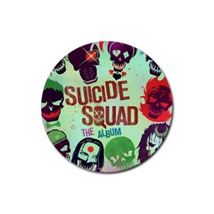 Panic! At The Disco Suicide Squad The Album Rubber Round Coaster (4 Pack)  by Onesevenart