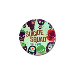 Panic! At The Disco Suicide Squad The Album Golf Ball Marker by Onesevenart