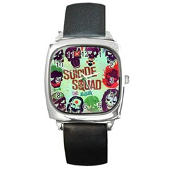 Panic! At The Disco Suicide Squad The Album Square Metal Watch by Onesevenart