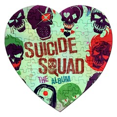 Panic! At The Disco Suicide Squad The Album Jigsaw Puzzle (heart) by Onesevenart