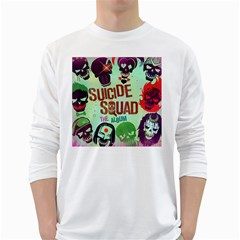 Panic! At The Disco Suicide Squad The Album White Long Sleeve T Shirts by Onesevenart