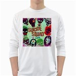 Panic! At The Disco Suicide Squad The Album White Long Sleeve T-Shirts