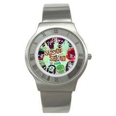 Panic! At The Disco Suicide Squad The Album Stainless Steel Watch by Onesevenart