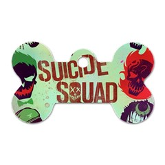 Panic! At The Disco Suicide Squad The Album Dog Tag Bone (one Side) by Onesevenart