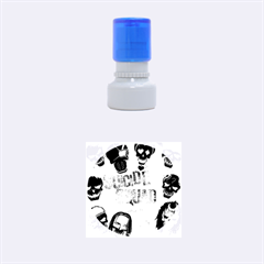 Panic! At The Disco Suicide Squad The Album Rubber Round Stamps (small) by Onesevenart