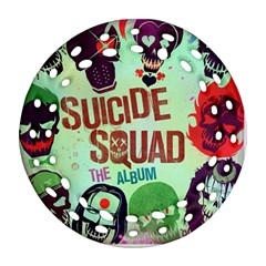 Panic! At The Disco Suicide Squad The Album Round Filigree Ornament (2side) by Onesevenart