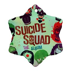 Panic! At The Disco Suicide Squad The Album Snowflake Ornament (2 Side) by Onesevenart