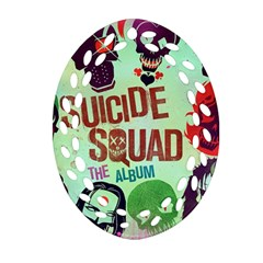 Panic! At The Disco Suicide Squad The Album Oval Filigree Ornament (2 Side)  by Onesevenart