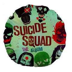 Panic! At The Disco Suicide Squad The Album Large 18  Premium Round Cushions by Onesevenart
