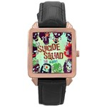 Panic! At The Disco Suicide Squad The Album Rose Gold Leather Watch