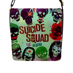 Panic! At The Disco Suicide Squad The Album Flap Messenger Bag (l)  by Onesevenart
