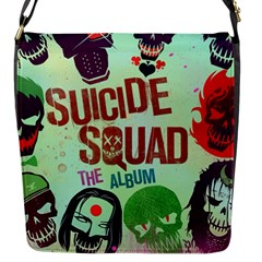 Panic! At The Disco Suicide Squad The Album Flap Messenger Bag (s) by Onesevenart