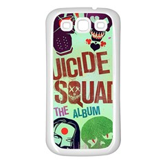 Panic! At The Disco Suicide Squad The Album Samsung Galaxy S3 Back Case (white) by Onesevenart