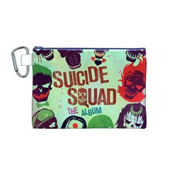 Panic! At The Disco Suicide Squad The Album Canvas Cosmetic Bag (m) by Onesevenart