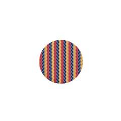 Colorful Chevron Retro Pattern 1  Mini Magnets