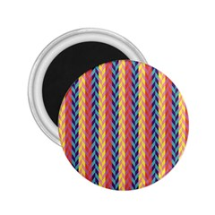 Colorful Chevron Retro Pattern 2 25  Magnets