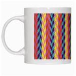 Colorful Chevron Retro Pattern White Mugs