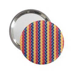 Colorful Chevron Retro Pattern 2 25  Handbag Mirrors by DanaeStudio