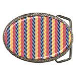 Colorful Chevron Retro Pattern Belt Buckles