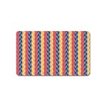Colorful Chevron Retro Pattern Magnet (Name Card) Front