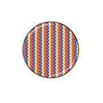 Colorful Chevron Retro Pattern Hat Clip Ball Marker Front