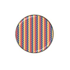 Colorful Chevron Retro Pattern Hat Clip Ball Marker (10 Pack) by DanaeStudio