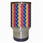 Colorful Chevron Retro Pattern Travel Mugs (White) Center