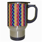 Colorful Chevron Retro Pattern Travel Mugs (White) Right