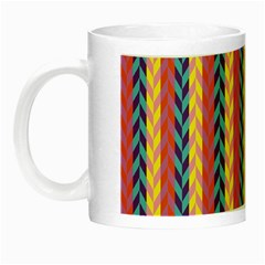 Colorful Chevron Retro Pattern Night Luminous Mugs by DanaeStudio
