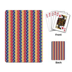 Colorful Chevron Retro Pattern Playing Card by DanaeStudio
