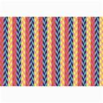 Colorful Chevron Retro Pattern Collage Prints 18 x12 Print - 1