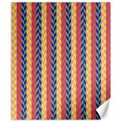 Colorful Chevron Retro Pattern Canvas 8  X 10  by DanaeStudio