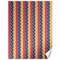 Colorful Chevron Retro Pattern Canvas 36  X 48   by DanaeStudio