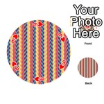 Colorful Chevron Retro Pattern Playing Cards 54 (Round)  Front - Heart9