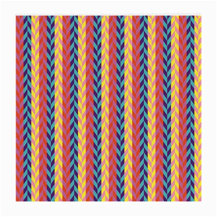 Colorful Chevron Retro Pattern Medium Glasses Cloth