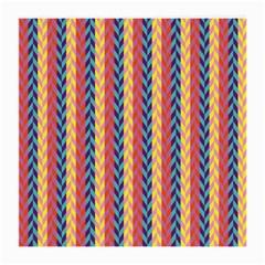 Colorful Chevron Retro Pattern Medium Glasses Cloth (2 Side) by DanaeStudio