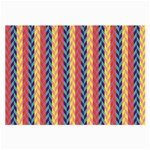 Colorful Chevron Retro Pattern Large Glasses Cloth Front