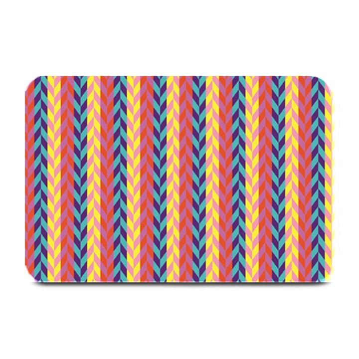 Colorful Chevron Retro Pattern Plate Mats