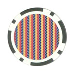 Colorful Chevron Retro Pattern Poker Chip Card Guards Back