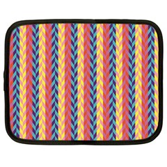 Colorful Chevron Retro Pattern Netbook Case (large) by DanaeStudio
