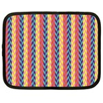 Colorful Chevron Retro Pattern Netbook Case (Large) Front