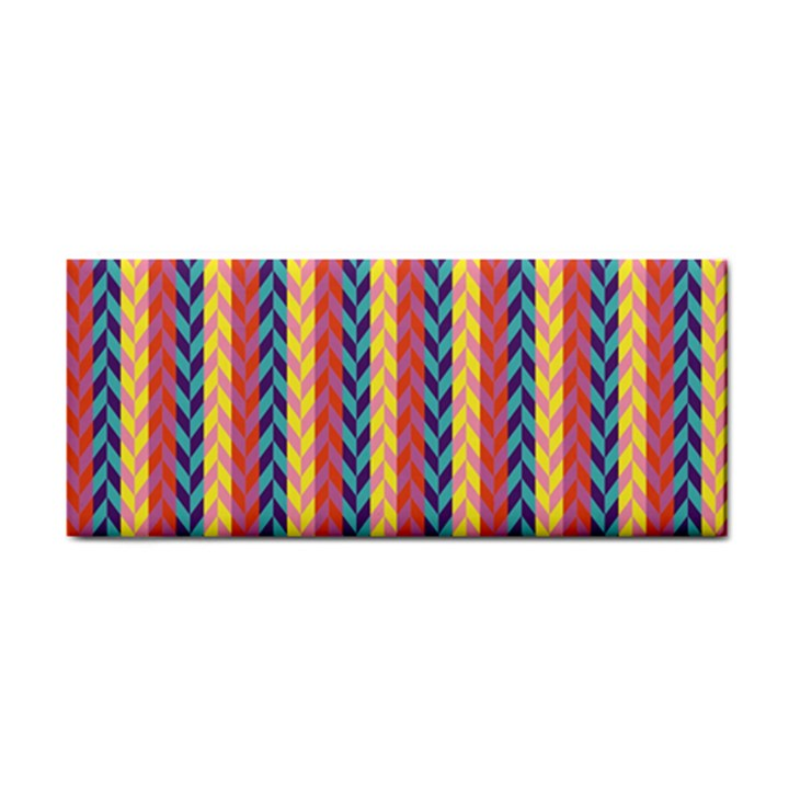 Colorful Chevron Retro Pattern Hand Towel