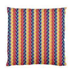 Colorful Chevron Retro Pattern Standard Cushion Case (two Sides) by DanaeStudio