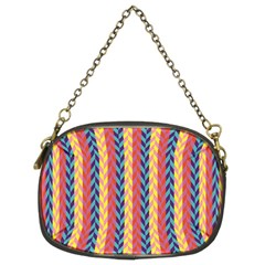 Colorful Chevron Retro Pattern Chain Purses (two Sides)  by DanaeStudio