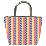 Colorful Chevron Retro Pattern Bucket Bags Front