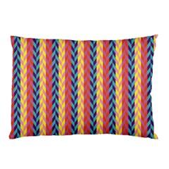 Colorful Chevron Retro Pattern Pillow Case